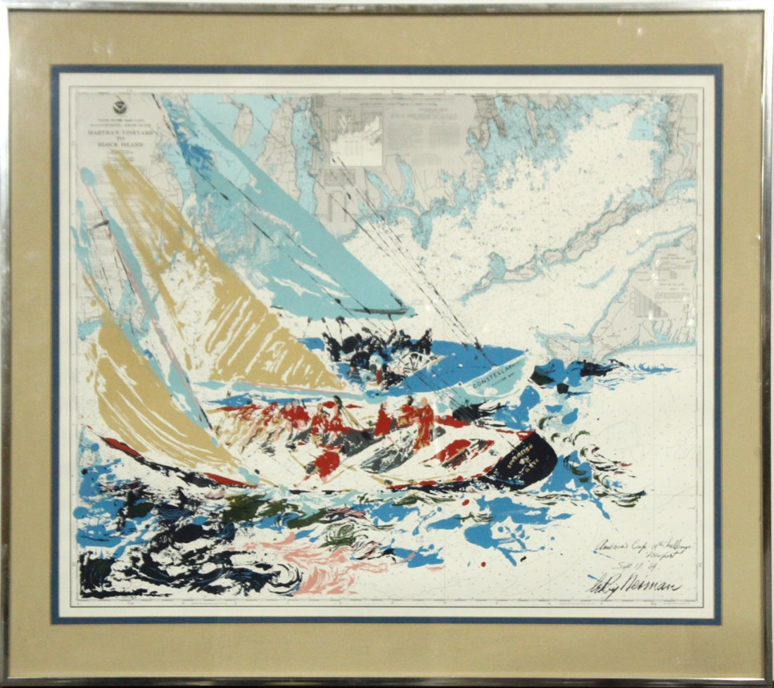 LEROY NEIMAN, Litho, Marthas Vineyard To Block Island