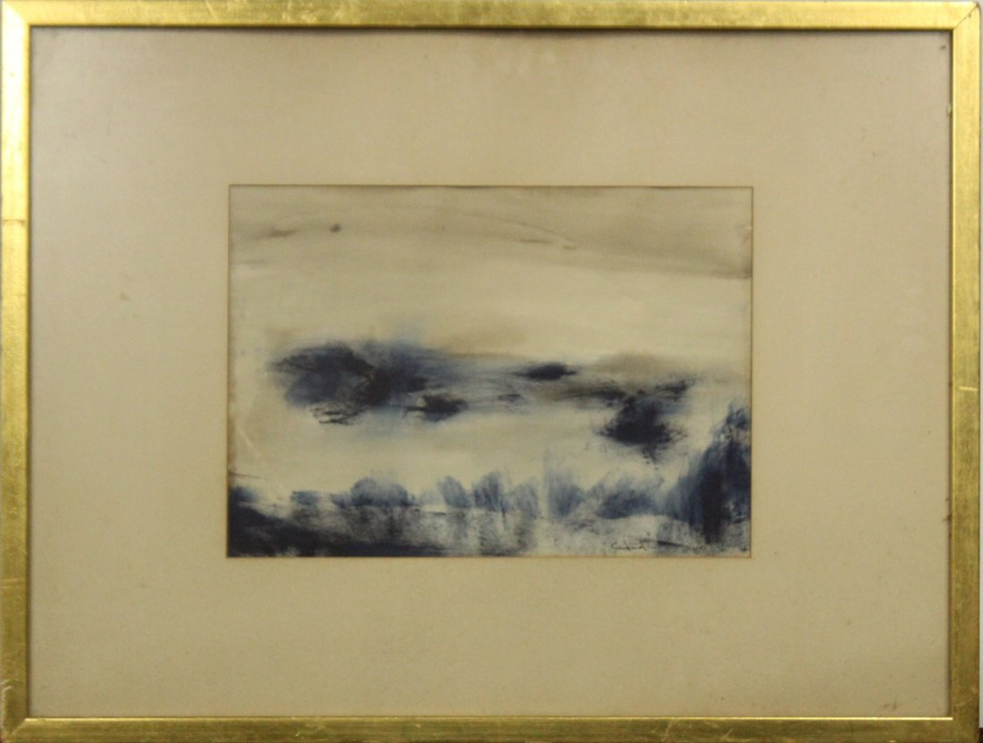 CANDIDO, Watercolor Abstract Ocean Dunes