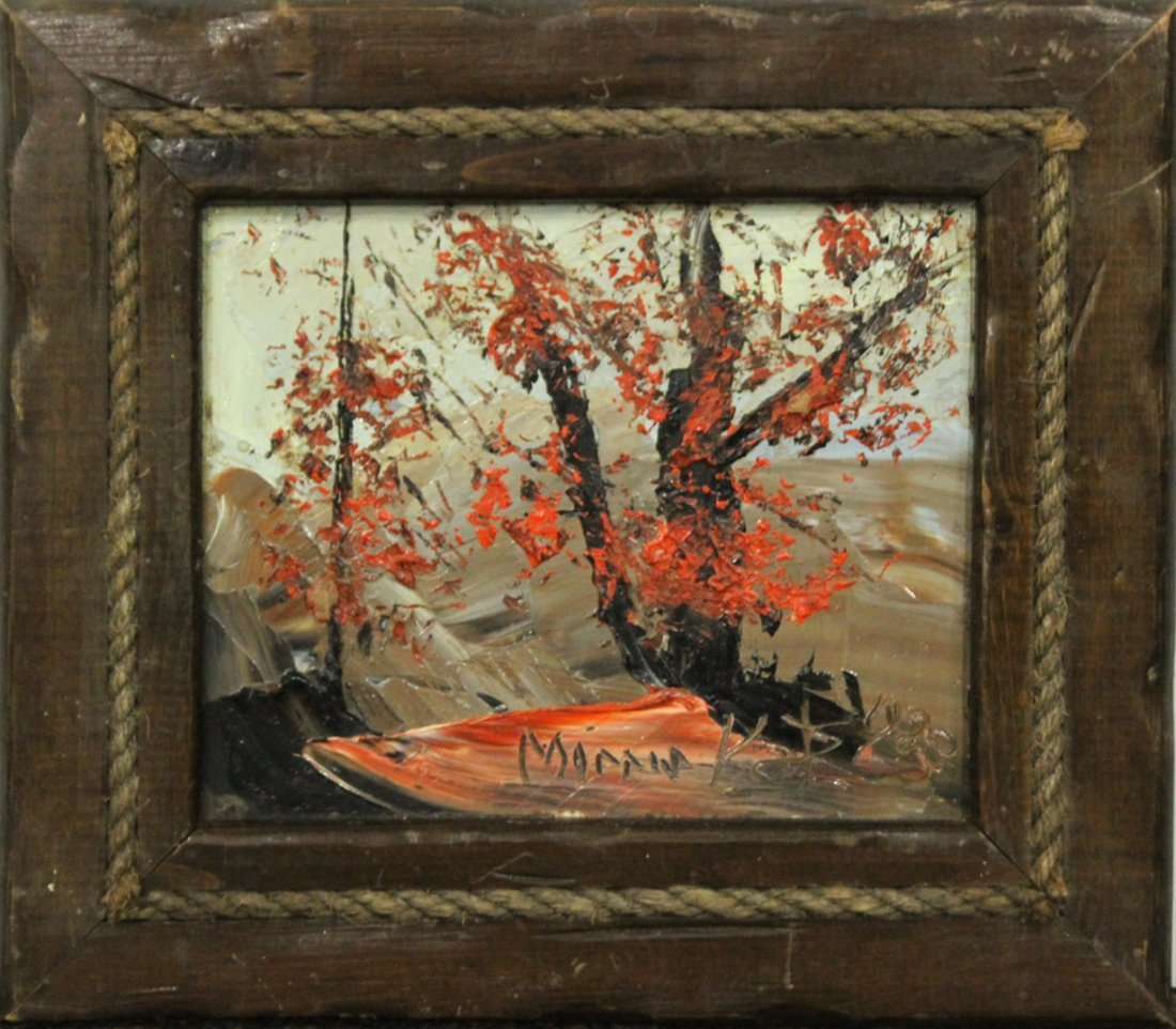 MORRIS KATZ 1983 Listed Jewish American CATSKILLS TREE