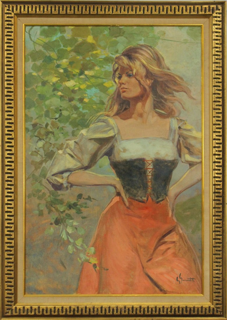 GIOVANOTTI, Italian Artist, Oil/C, Young Blond Girl