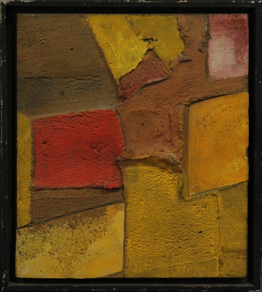 PAMELA CLOVE, Oil Abstract Textured Dimensional 1970