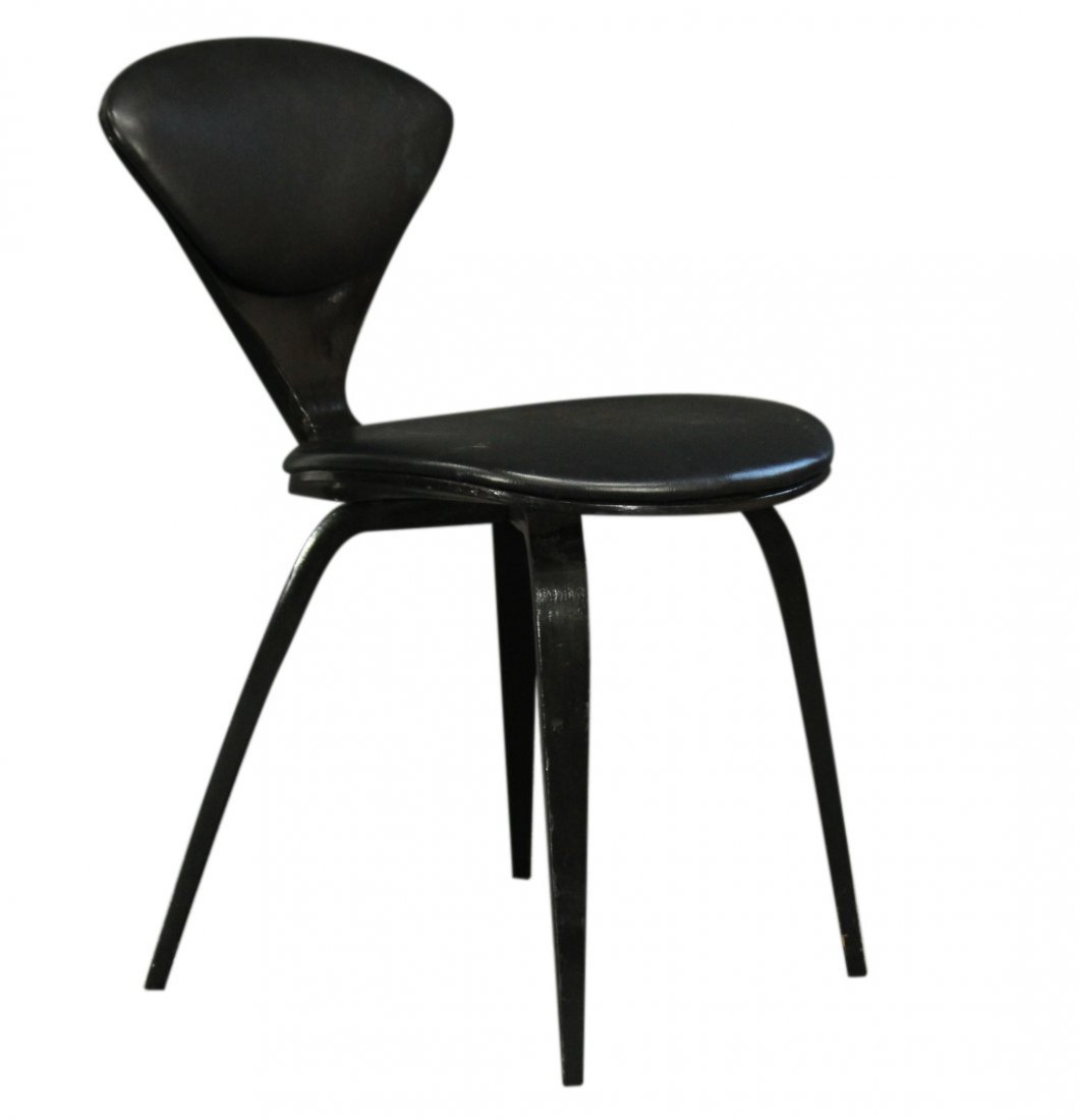 NORMAN CHERNER Design Painted Black Side Chair