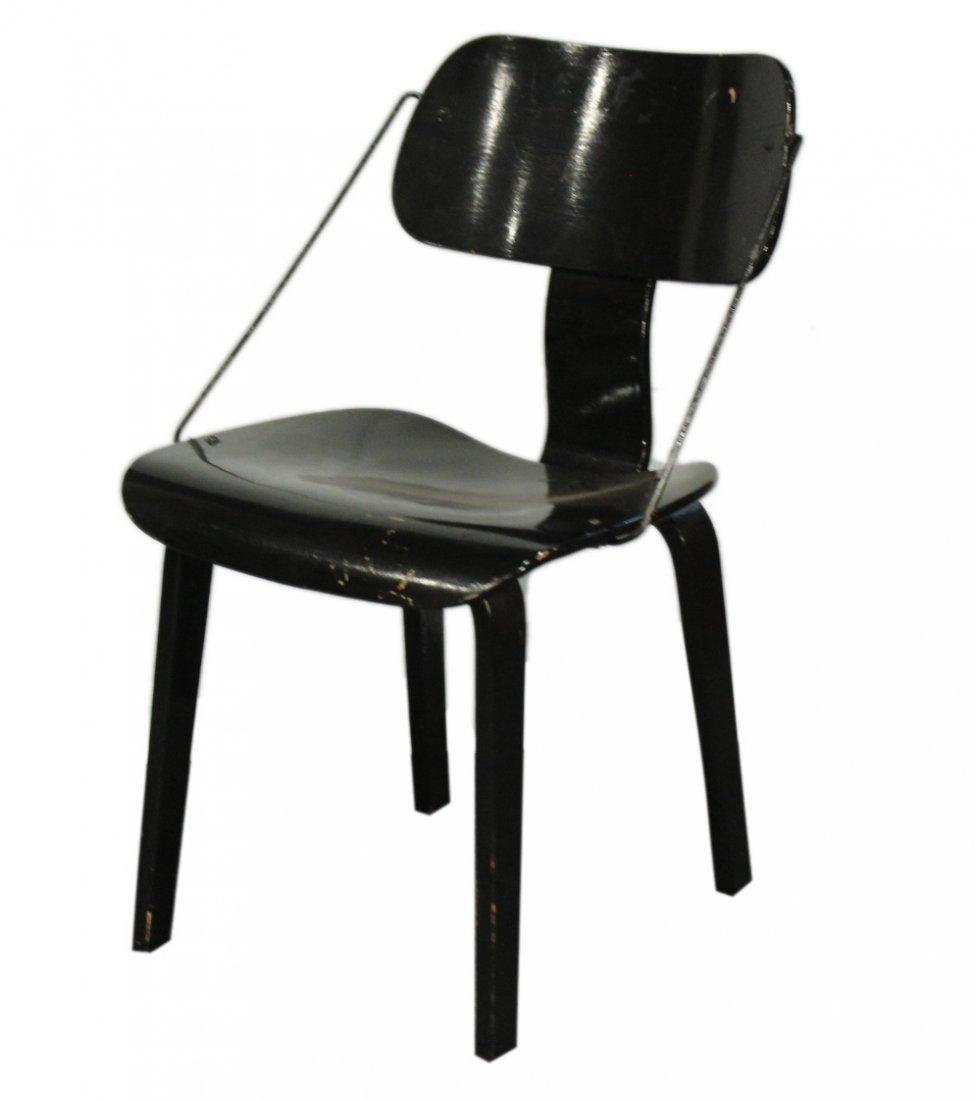 JOE ATKINSON for THONET Unusual Chair Metal Side Rods