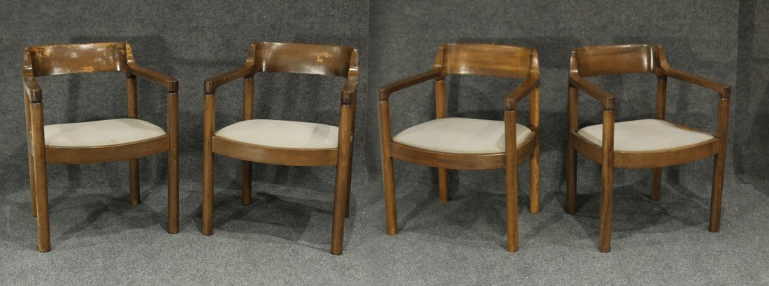INTREX FURNITURE Set Four [4] Teak Arm Chairs