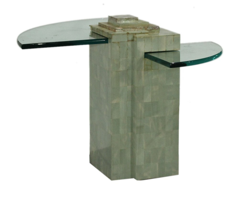 SKYSCRAPER BASE DIRECTIONAL Glass Occasional Stand