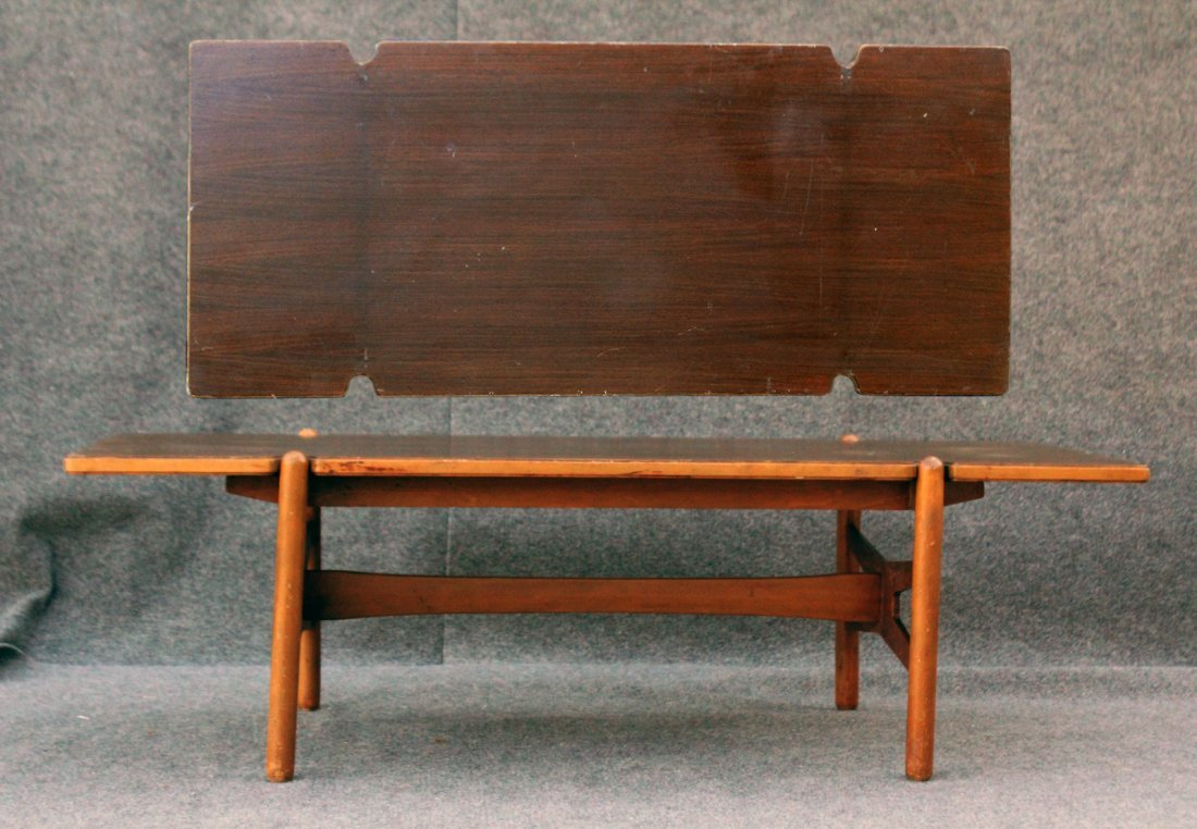 ROYAL SWEDEN Mid-Century Modern Wood Top Coffee Table