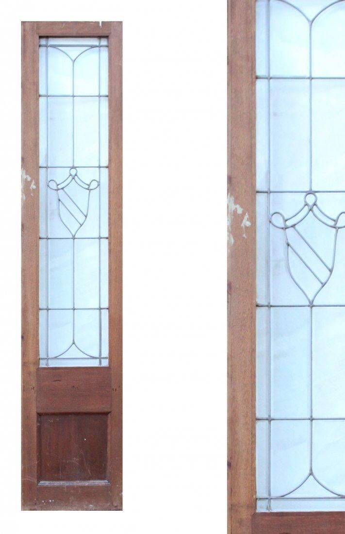 LEADED GLASS Side Door Window Narrow Panel