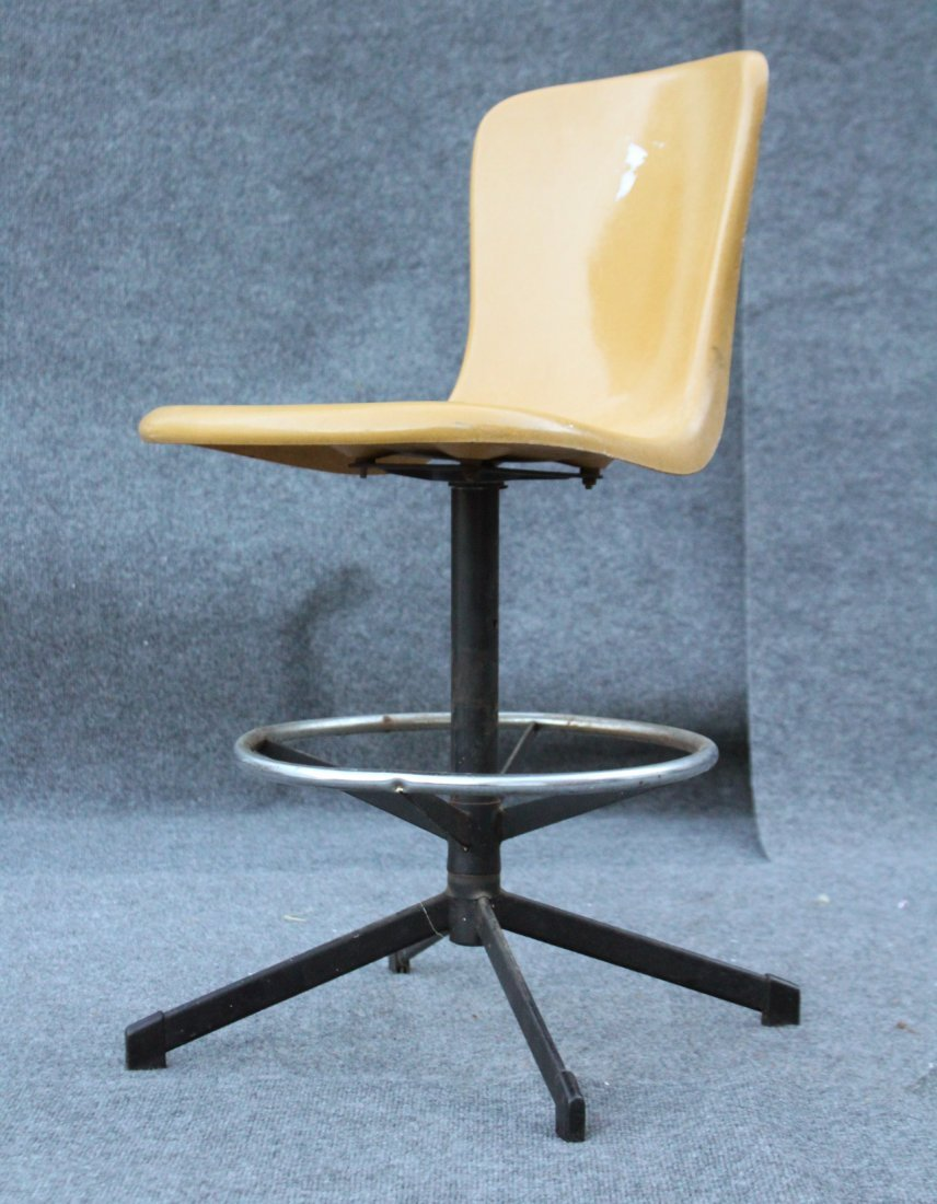 HAMILTON COSCO Vintage Fiberglass Molded Stool Chair