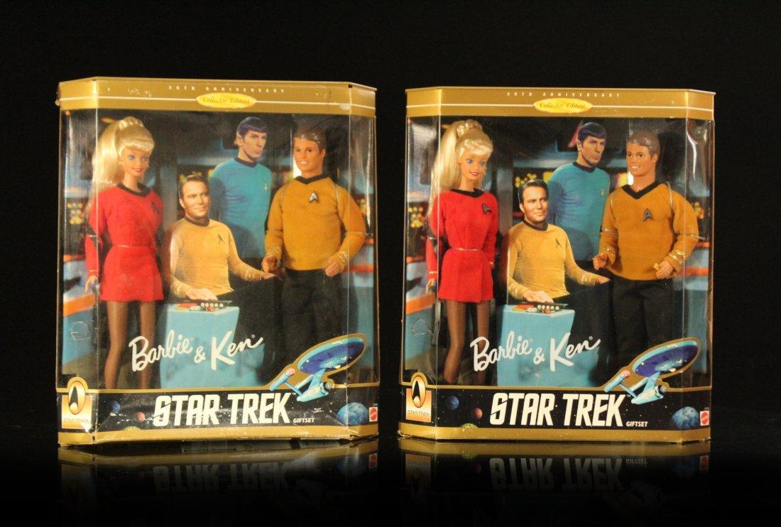 TWO [2] BARBIE & KEN STAR TREK Unused Original Boxes