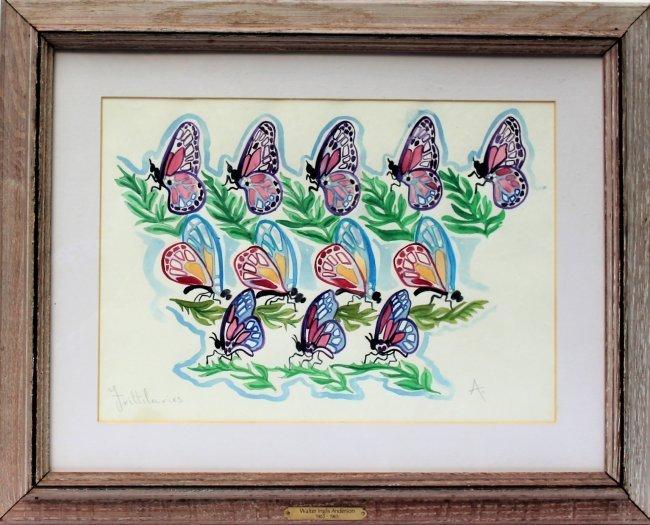 WALTER INGLIS ANDERSON 1903-1964 Butterflies Watercolor