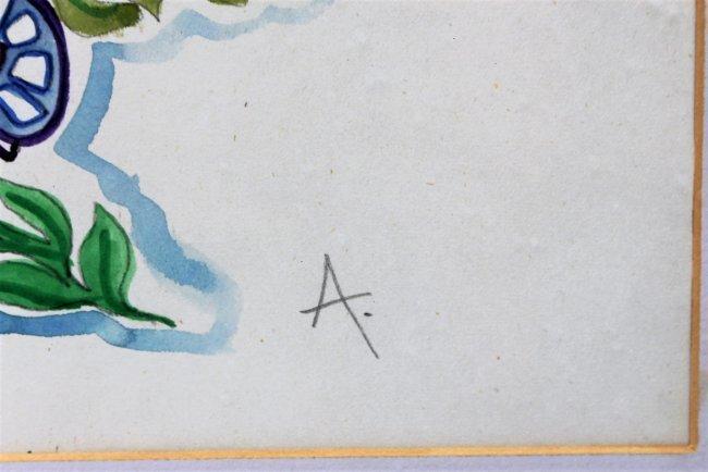 WALTER INGLIS ANDERSON 1903-1964 Butterflies Watercolor - 5