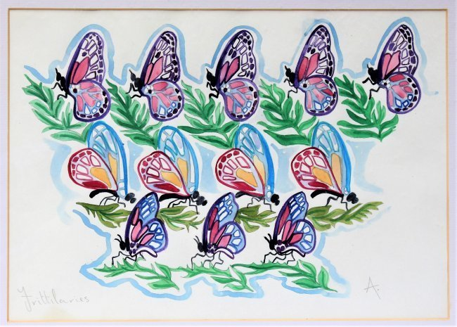 WALTER INGLIS ANDERSON 1903-1964 Butterflies Watercolor - 6