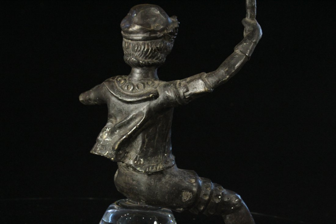 Bronze Figure Man With Beard Holding A Torch - 5