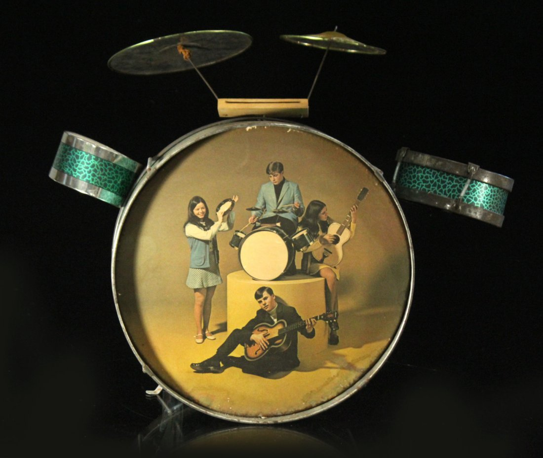 1960s Pictorial Band Childs Drum Set with Cymbal