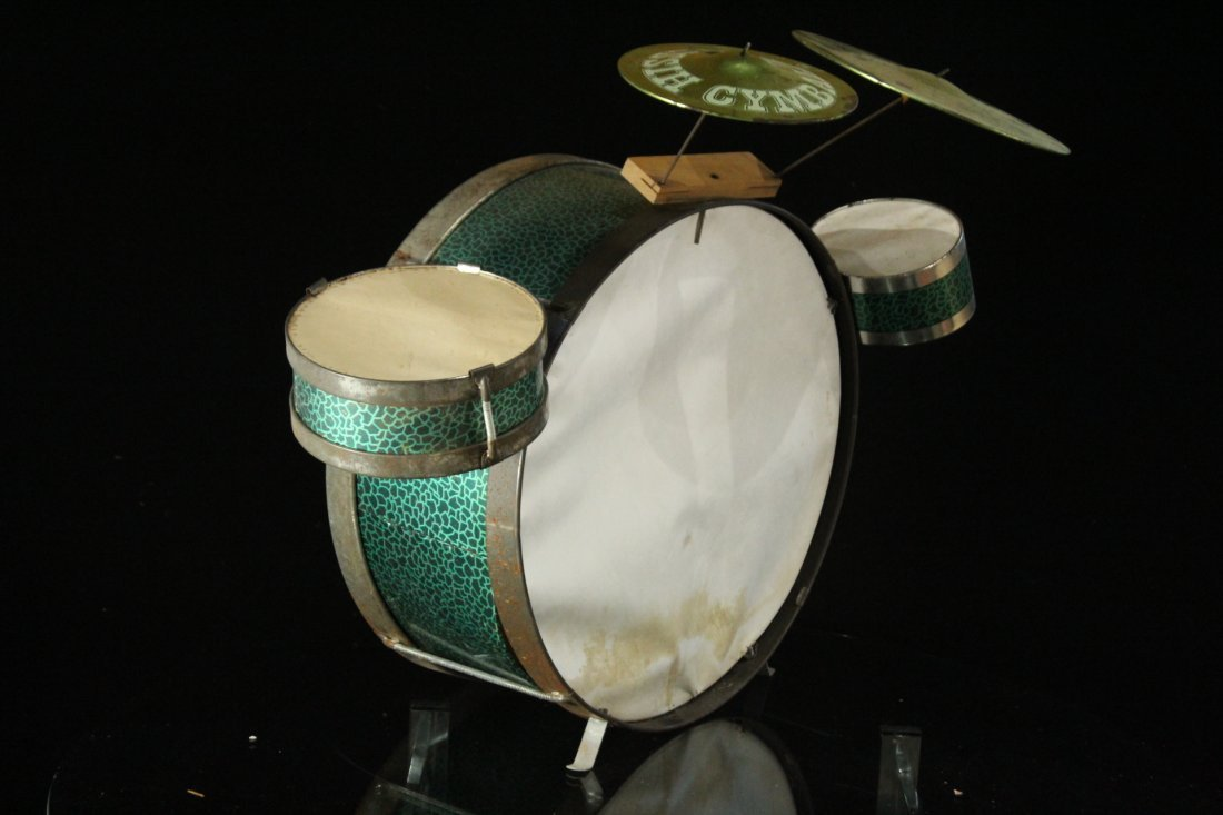 1960s Pictorial Band Childs Drum Set with Cymbal - 4