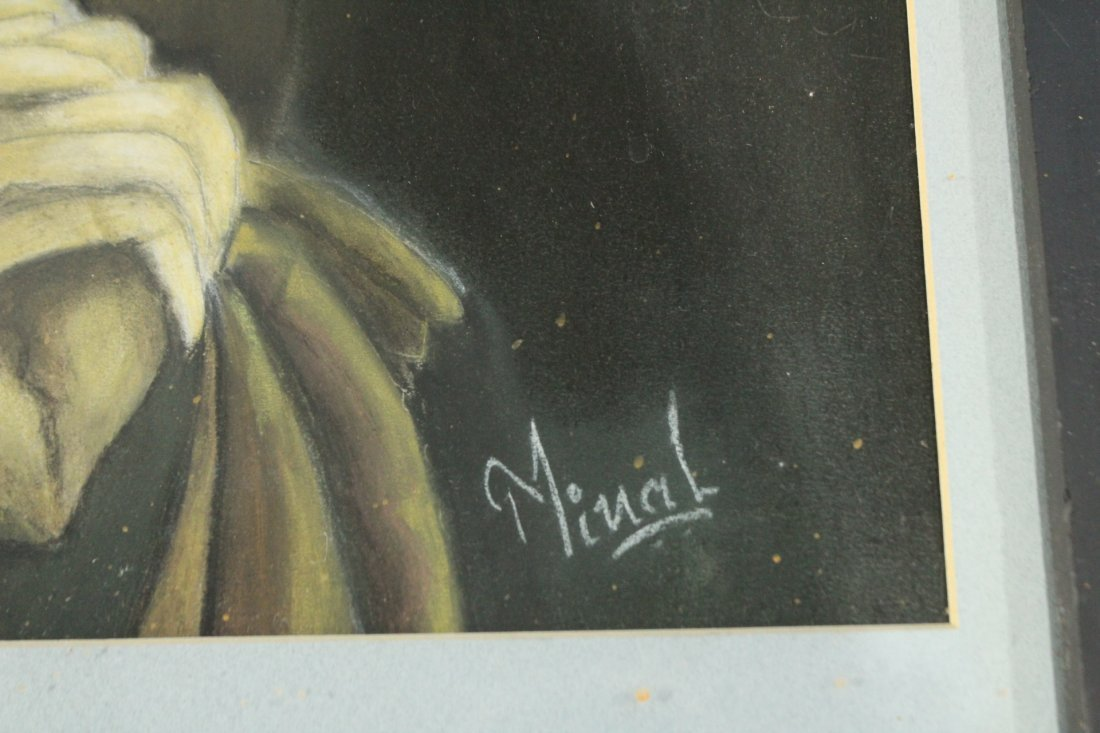 MINAL JESWANI, Calif Artist Oil/B Monk Looking Downward - 2
