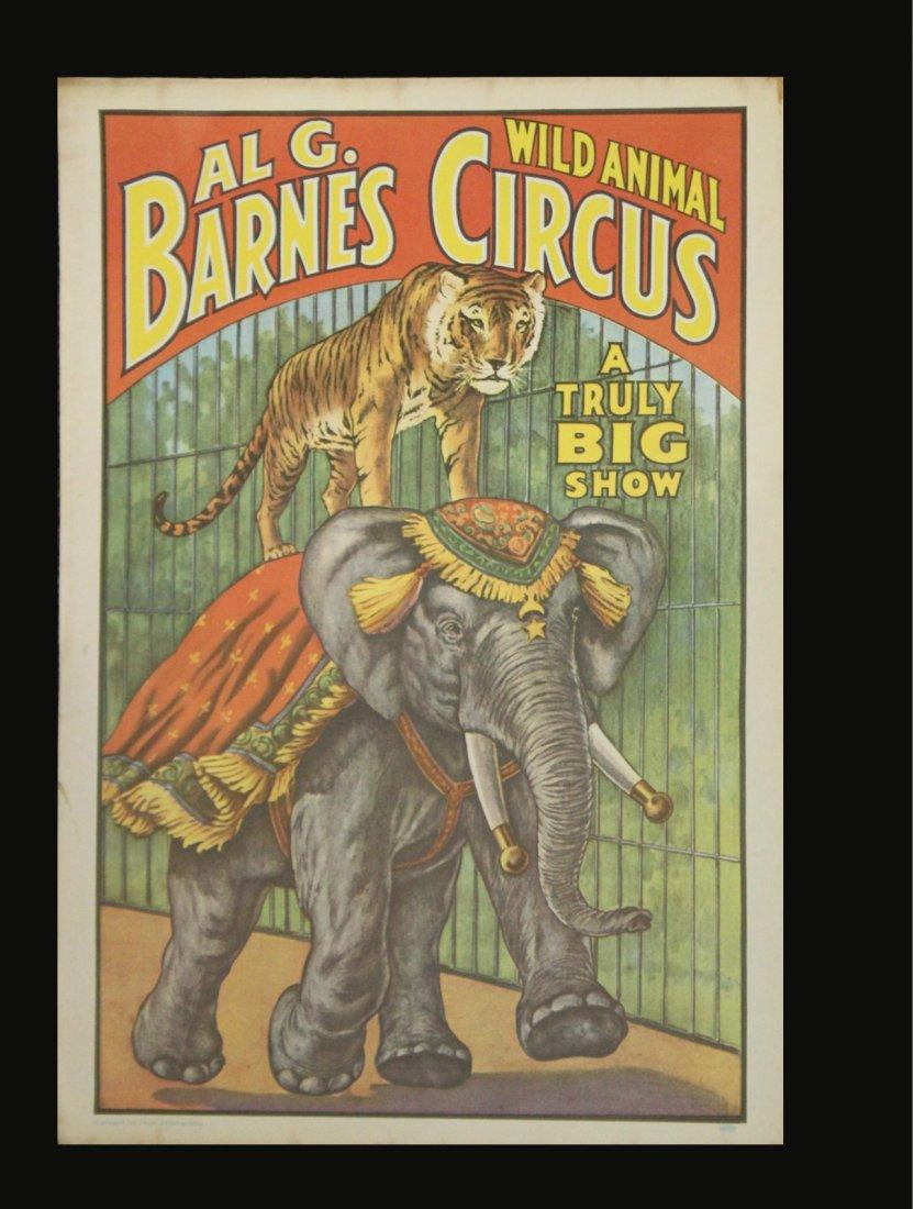 Six [6] Assorted Circus Posters Ringling Barnum Program - 2