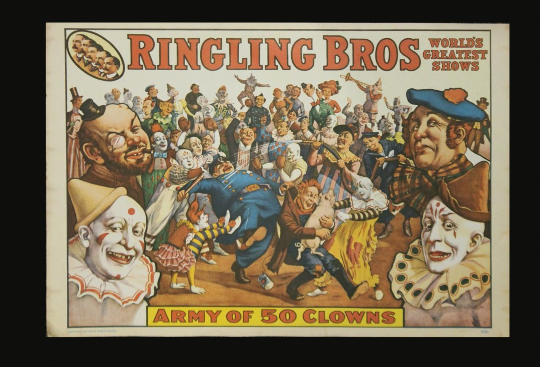 Six [6] Assorted Circus Posters Ringling Barnum Program - 3