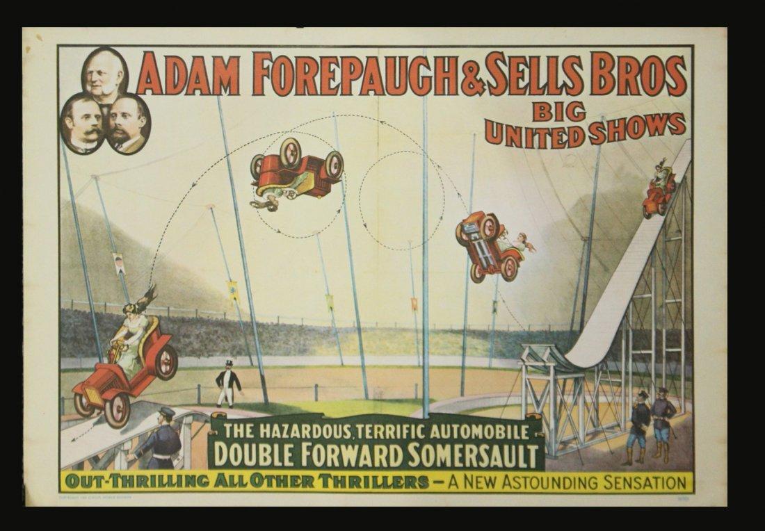 Six [6] Assorted Circus Posters Ringling Barnum Program - 4