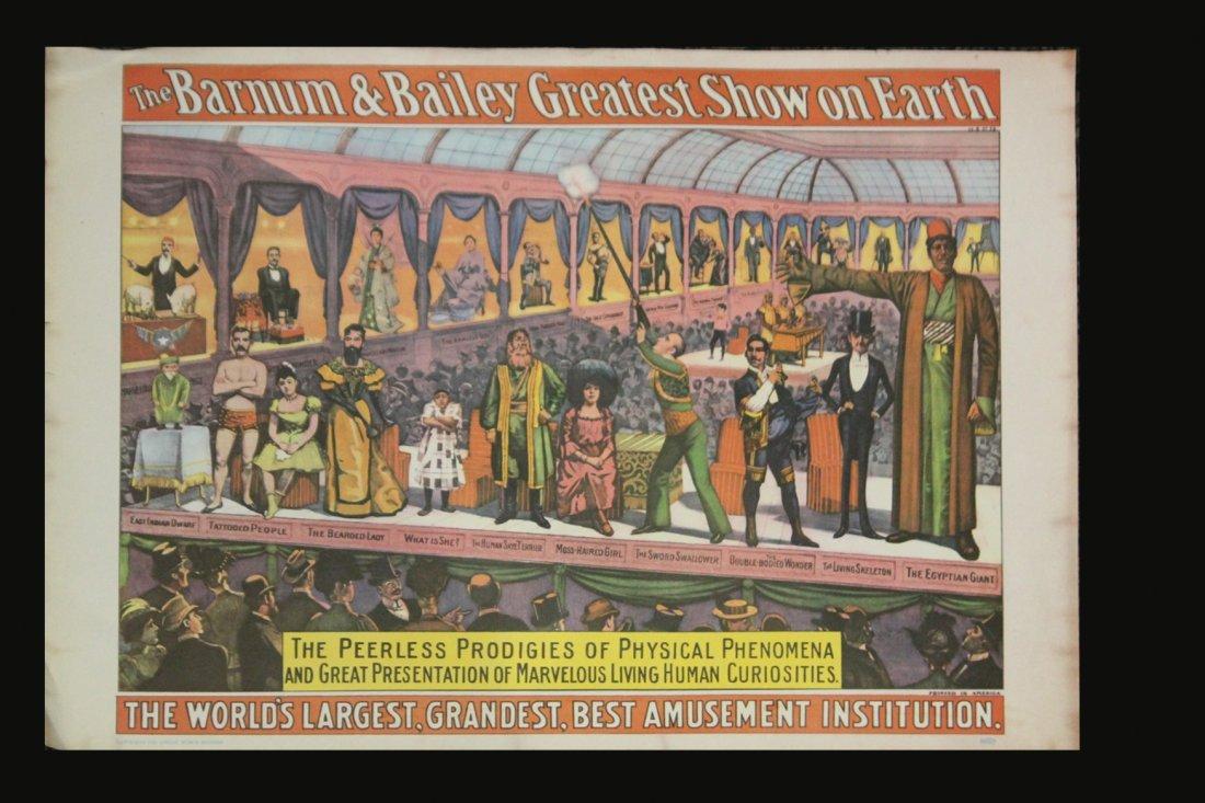 Six [6] Assorted Circus Posters Ringling Barnum Program - 5