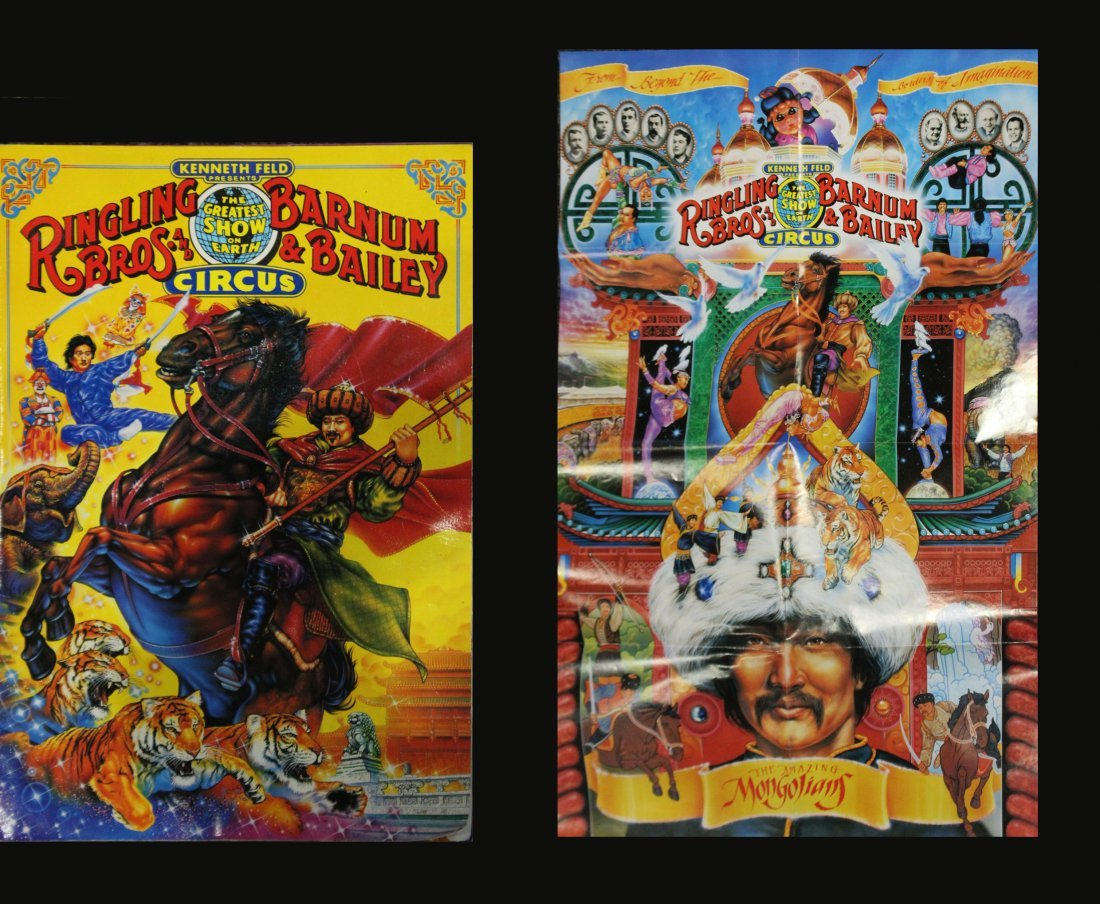 Six [6] Assorted Circus Posters Ringling Barnum Program - 7