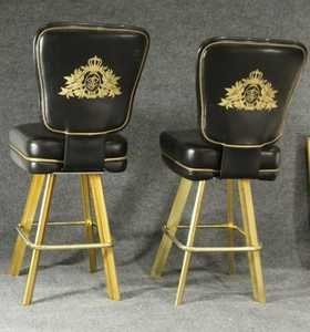 Pair Original TRUMP PLAZA CASINO BAR STOOL GAME CHAIRS