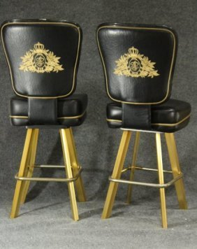 Pair Original TRUMP PLAZA CASINO BAR STOOL GAME CHAIRS - 2