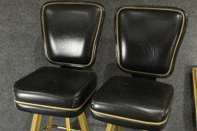 Pair Original TRUMP PLAZA CASINO BAR STOOL GAME CHAIRS - 6