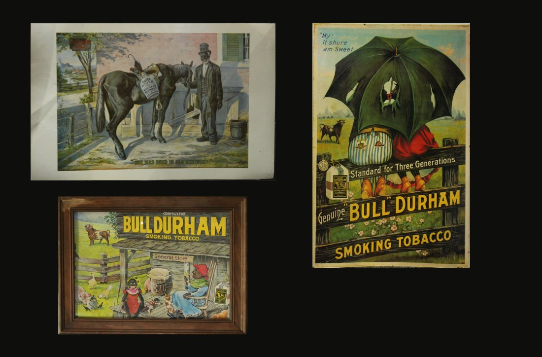 Three [3] Advertising Posters BULL DURHAM / GREEN RIVER