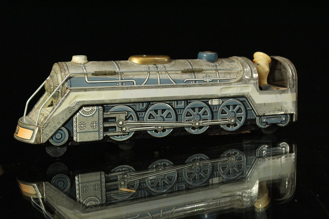 Assorted Tin Train Grouping, Silver Mountain - 5