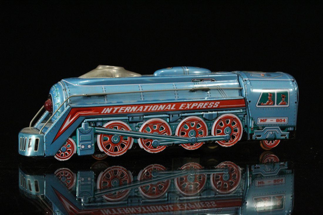 Assorted Tin Train Grouping, Silver Mountain - 7
