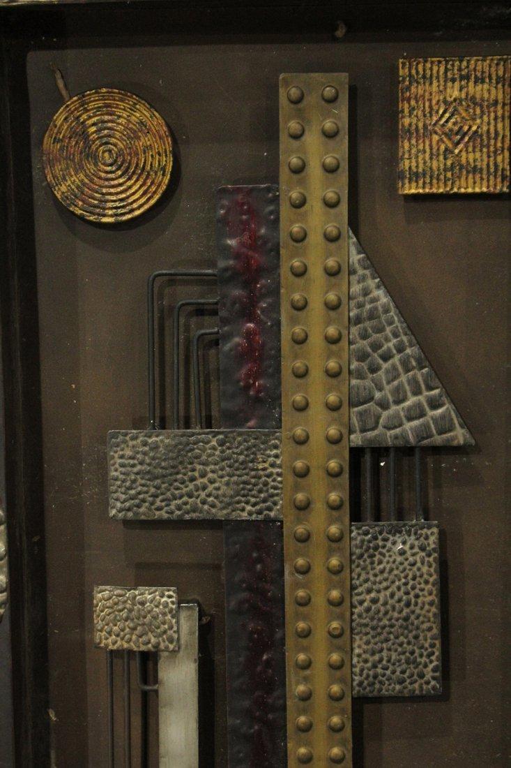 Mid-Century Mod Design Metal Wall Assemblage Sculpture - 3