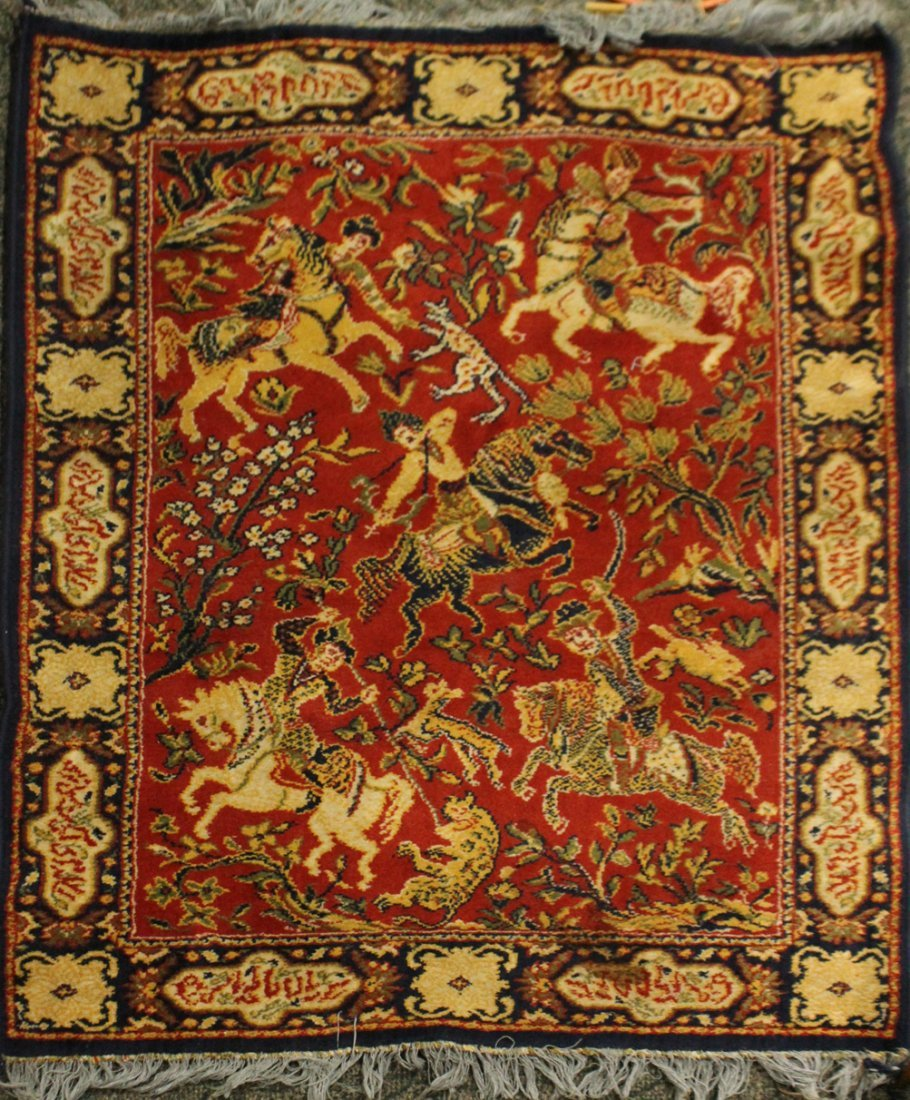 Hanging Tapestry Persian Figures On Horses