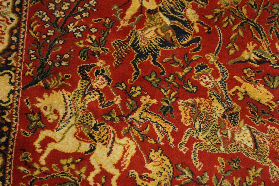 Hanging Tapestry Persian Figures On Horses - 2