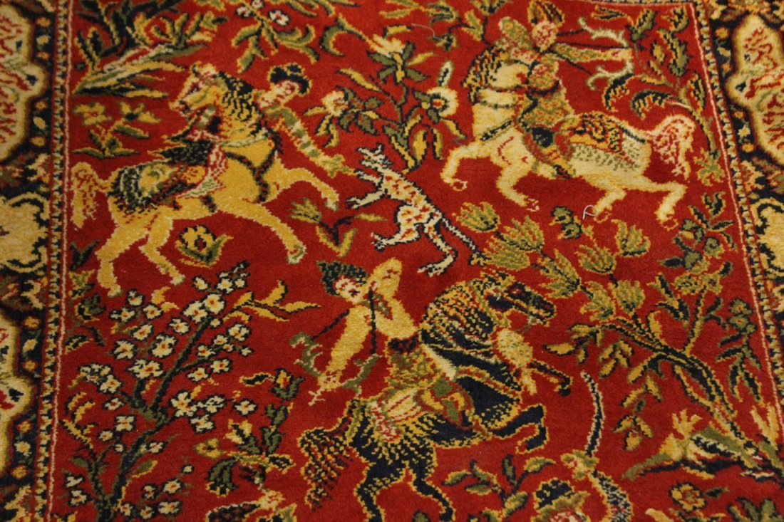 Hanging Tapestry Persian Figures On Horses - 3