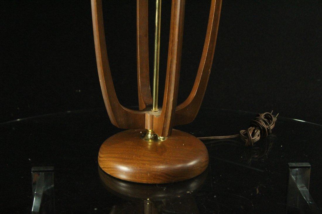 Mid-Century Modern Teak Cylindrical Table Lamp - 3