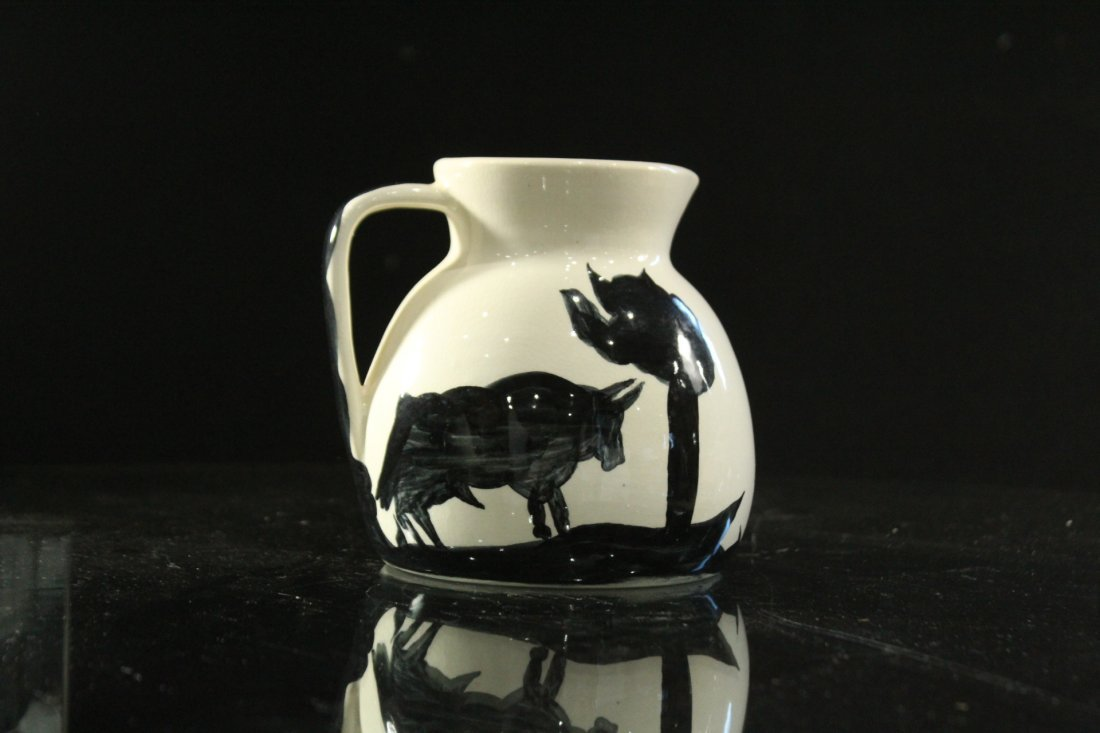 PICASSO BY PADILLA Signed Ceramic Pottery Pitcher BULL - 2