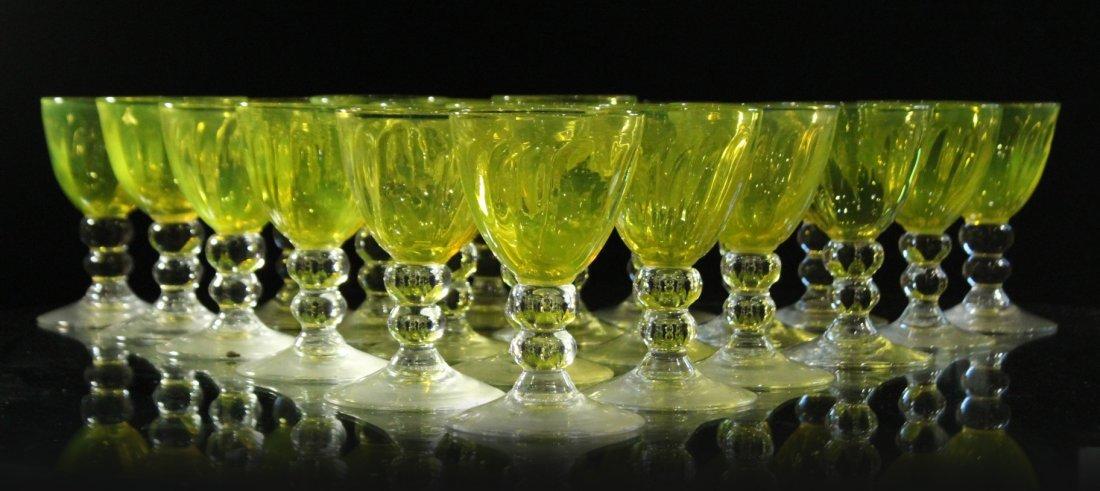 THOMAS STUDIO Signed Thirty [30] Art Glass Stemware