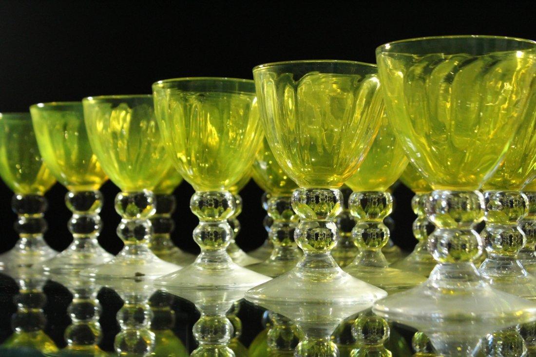 THOMAS STUDIO Signed Thirty [30] Art Glass Stemware - 2