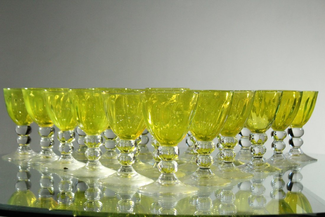 THOMAS STUDIO Signed Thirty [30] Art Glass Stemware - 6
