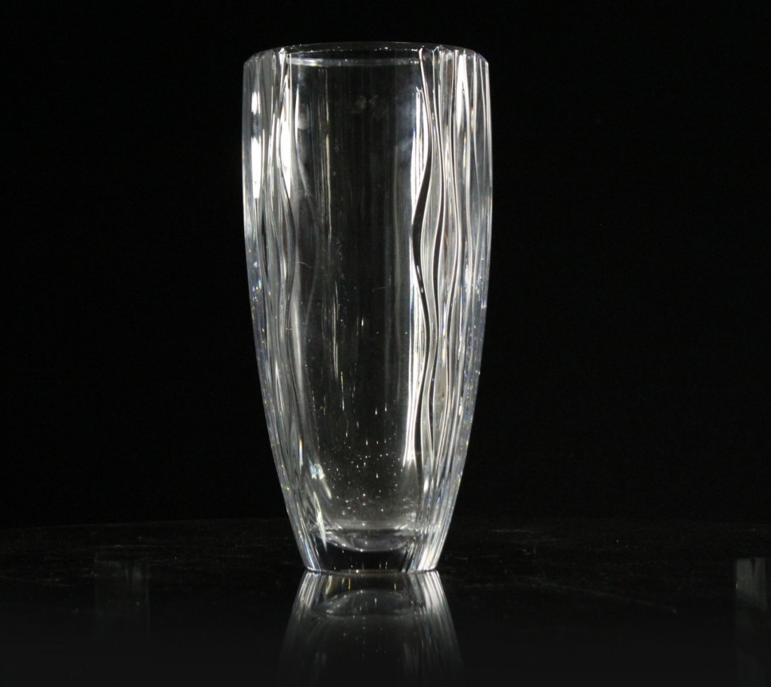 MIKASA Quality Lead Crystal Vase 13.75 in. H. , Signed