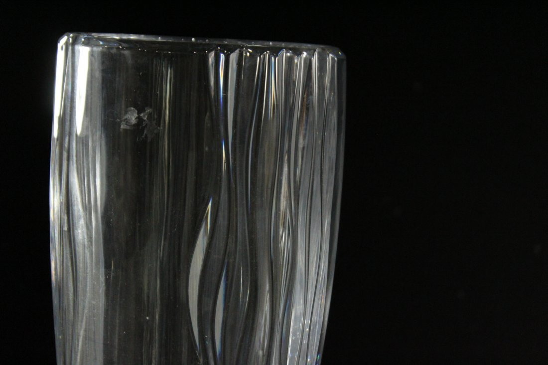 MIKASA Quality Lead Crystal Vase 13.75 in. H. , Signed - 2