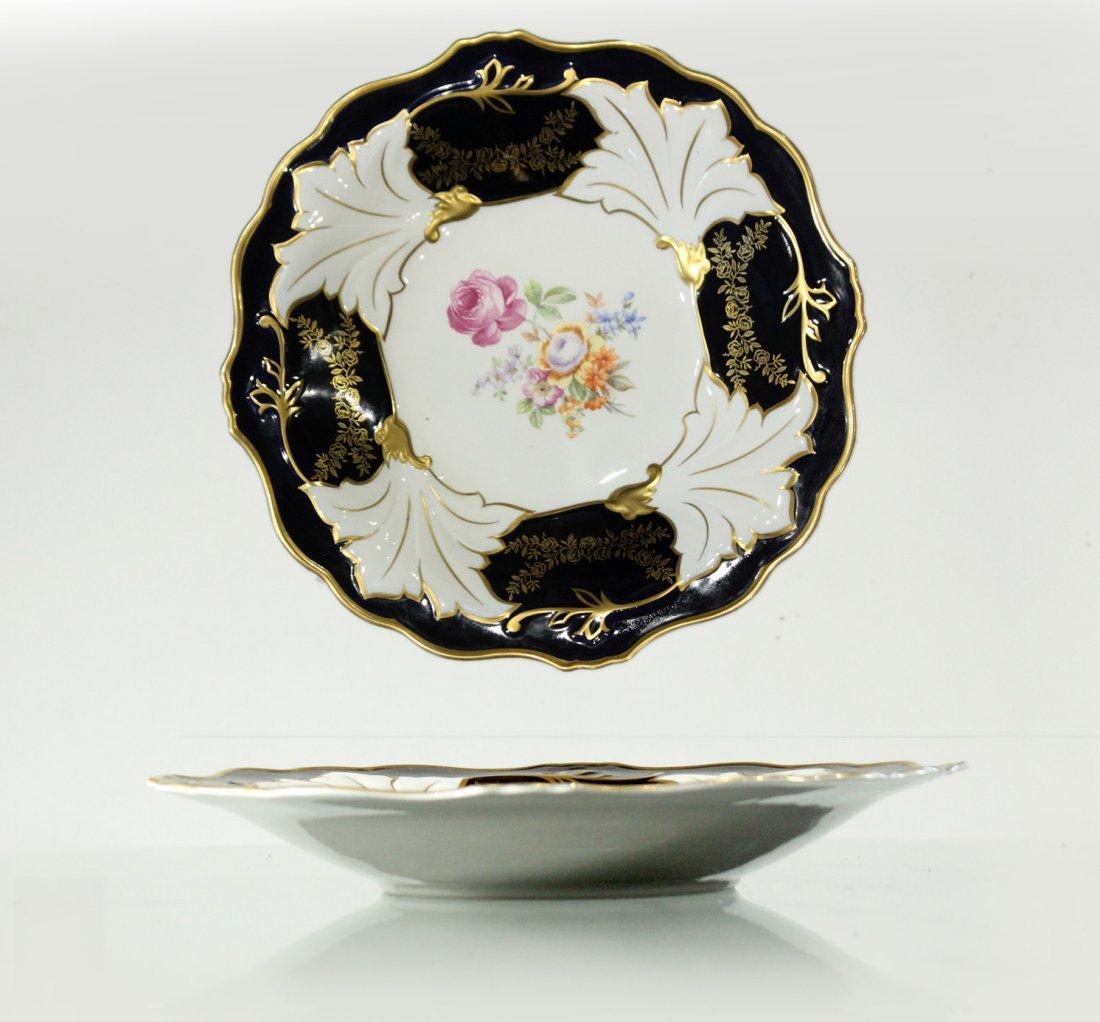 ECHT WEIMAR KOBALT Porcelain 12 in. Charger, German Dem