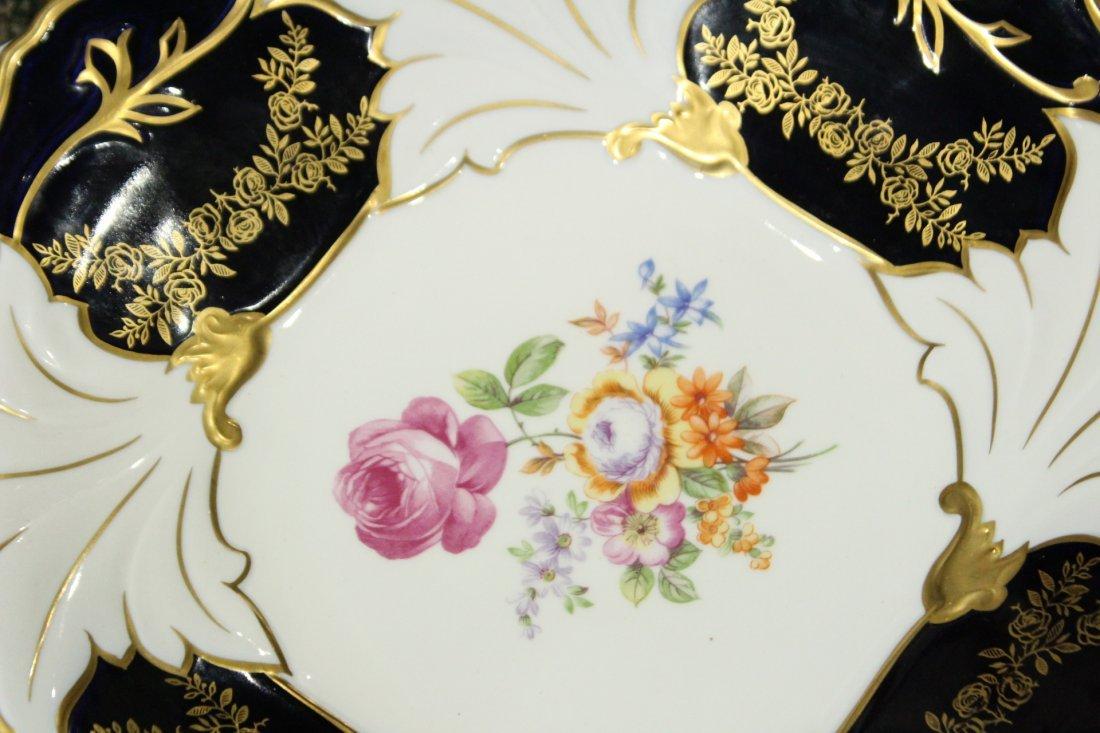 ECHT WEIMAR KOBALT Porcelain 12 in. Charger, German Dem - 2