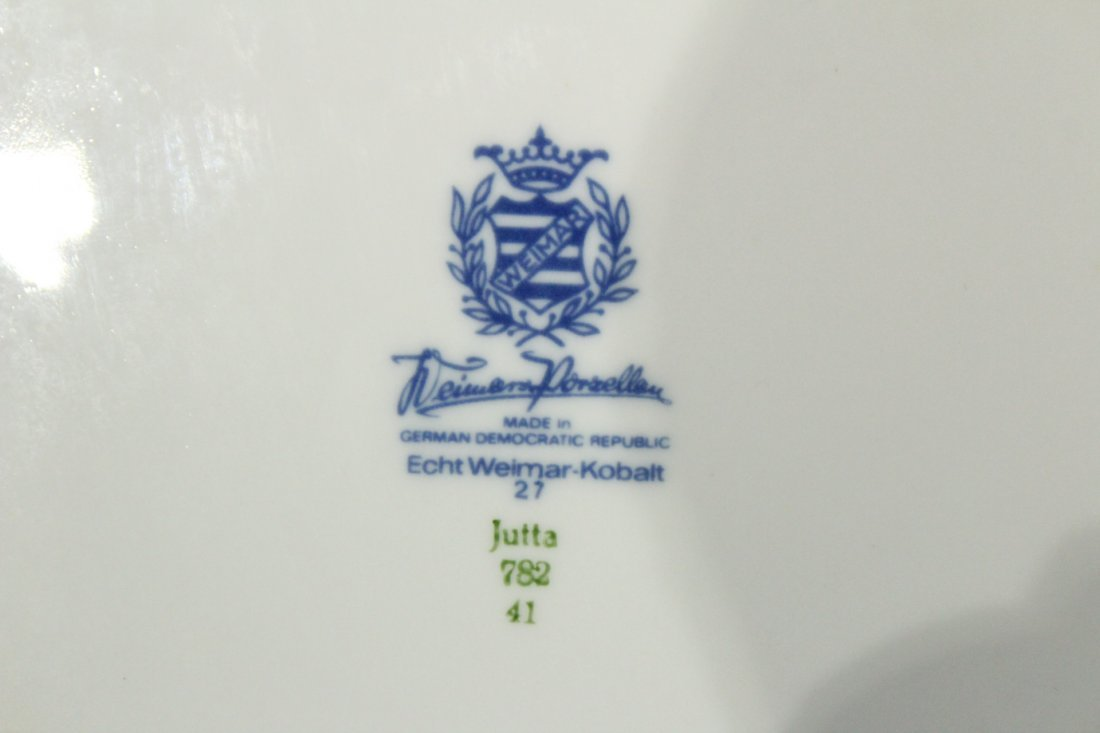 ECHT WEIMAR KOBALT Porcelain 12 in. Charger, German Dem - 3