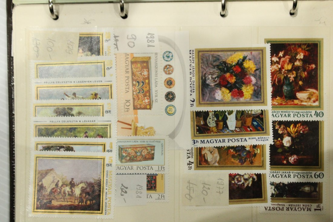 Grouping of ESTATE STAMP ALBUMS - 10