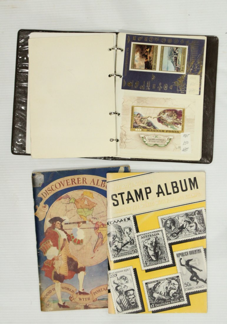 Grouping of ESTATE STAMP ALBUMS