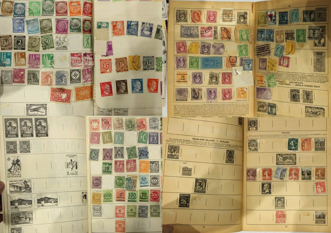 Grouping of ESTATE STAMP ALBUMS - 2