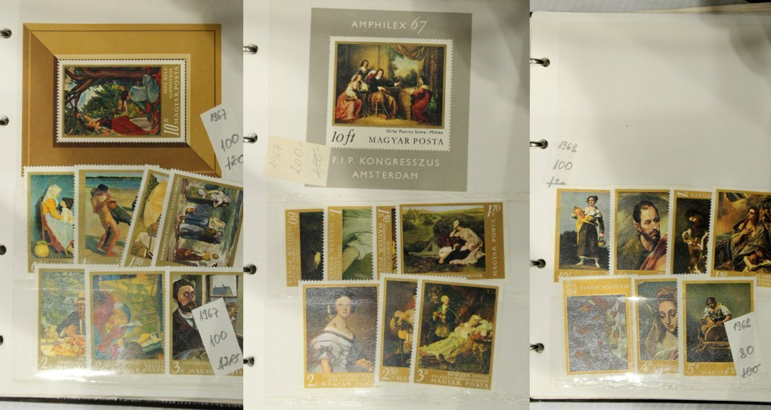 Grouping of ESTATE STAMP ALBUMS - 3