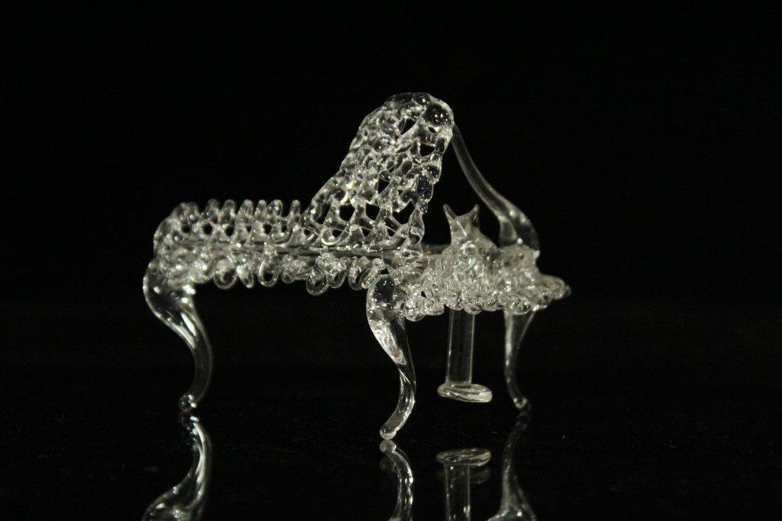 Two [2[ Pieces HANDBLOWN STUDIO GLASS Piano & Ballerina - 3